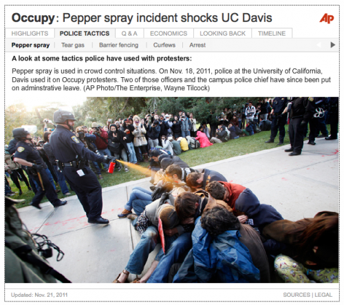 Occupy: Pepper spray incident shocks UC Davis